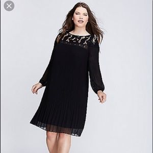 Lane Bryant Pleated Peasant Dress